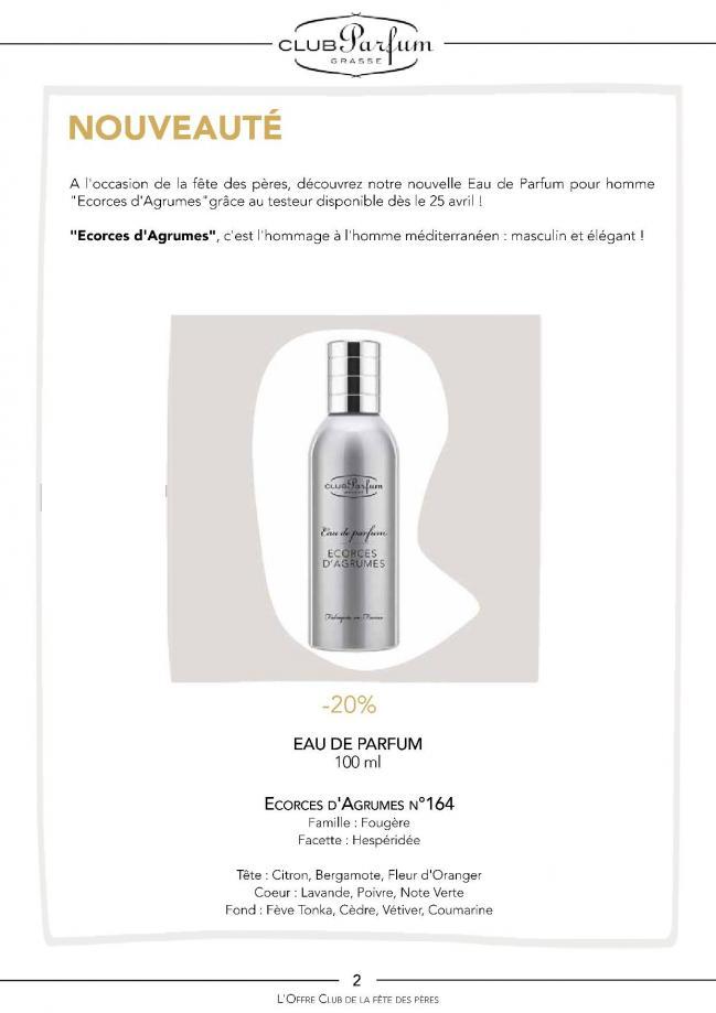 Offres club parfum fete des peres 20192